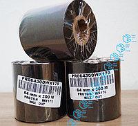 Красящая лента - риббон WAX (воск) 64 (60) мм*300м, фото 1
