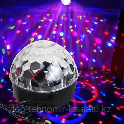 Световой диско шар с пультом и музыкой