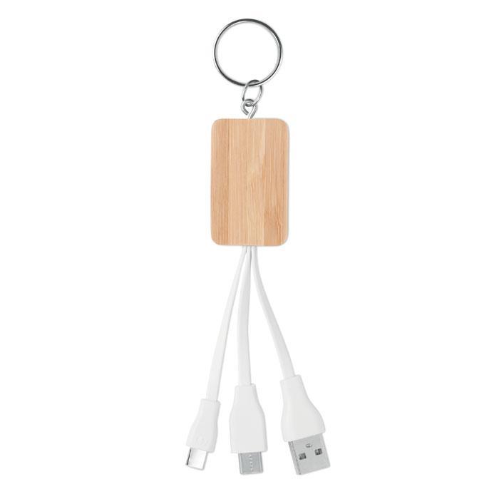 Эко Зарядный кабель (2 в 1 контакт), Кабель 3 в 1, CLAUER