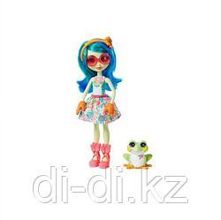 Кукла Enchantimals Тамика Квакша с любимой зверюшкой, 15 см