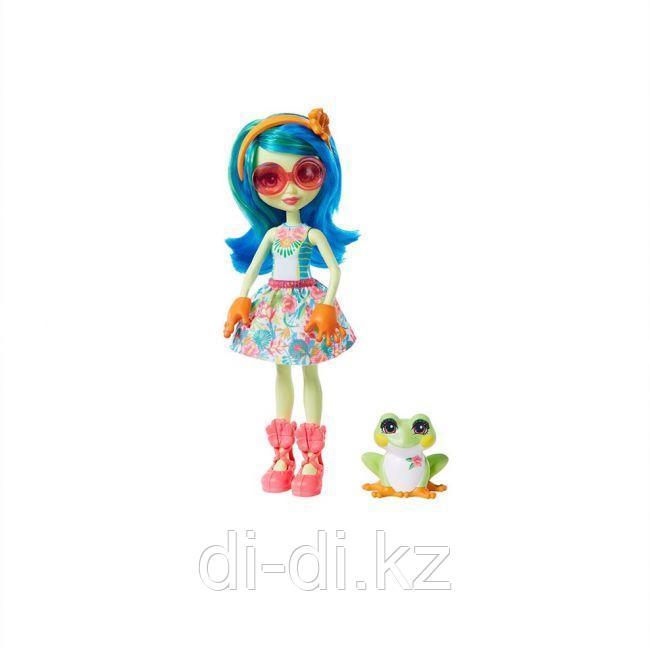 Кукла Enchantimals Тамика Квакша с любимой зверюшкой, 15 см - фото 1