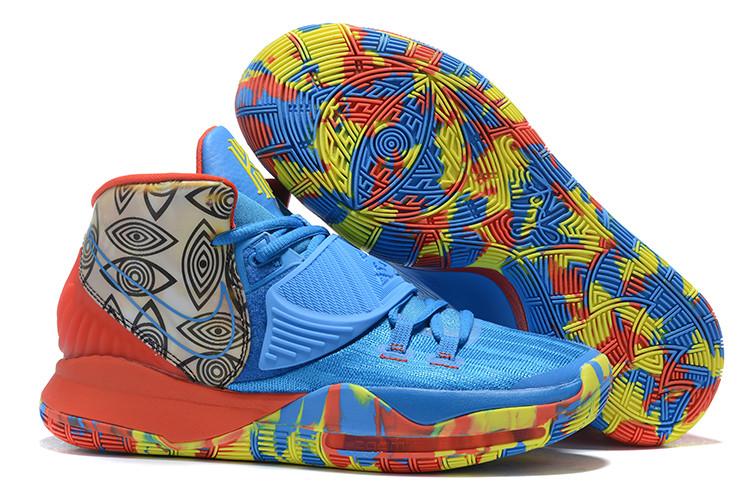 """Баскетбольные кроссовки Nike Kyrie 6 (VI) """"Blue-Red"""" from Kyrie Irving"""