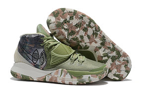 "Баскетбольные кроссовки Nike Kyrie 6 (VI) ""Green-Gray"" sneakers from Kyrie Irving"
