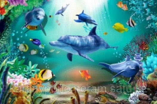 """Картина стразами на подрамнике (40х50 см)""""Подводный мир"""" MB-425"""