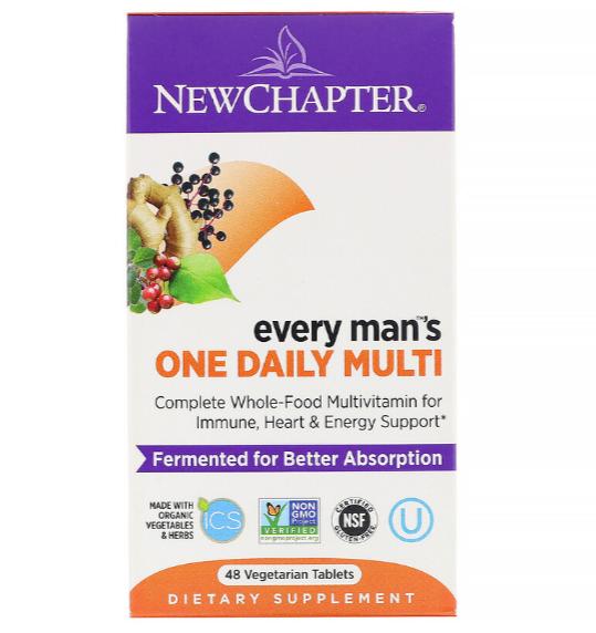 New Chapter, Every Man, ежедневная мультивитаминная добавка для мужчин, 48 растительных таблеток