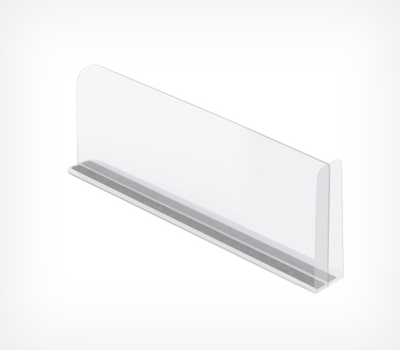 Пластиковый разделитель с ограничителем и магнитным Т-профилем (L=380 мм/H=150 мм) DIVT-T-150-TM арт.772150