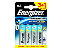 Батарейка LR6 AA Energizer MAXIMUM Alkaline 3+1 штуки в блистере