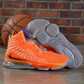 """Баскетбольные кроссовки Nike Lebron 17 (XVII ) """"Orange"""" sneakers from LeBron James, фото 2"""