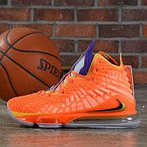"""Баскетбольные кроссовки Nike Lebron 17 (XVII ) """"Orange"""" sneakers from LeBron James, фото 3"""