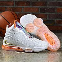 "Баскетбольные кроссовки Nike Lebron 17 (XVII ) ""White-Orange"" from LeBron James"