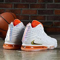 """Баскетбольные кроссовки Nike Lebron 17 (XVII ) """"White-Orange"""" from LeBron James, фото 3"""
