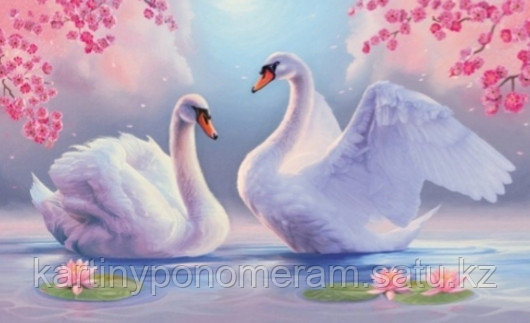 """Картина стразами на подрамнике (40х50 см)""""Лебединый танец"""" MB-507"""