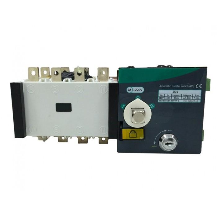 Реверсивный рубильник с мотор приводом SQ5-160 4P 160A 400/230V