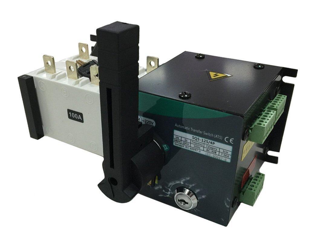 Реверсивный рубильник с мотор приводом SQ5-125 4P 100A, 400/230V