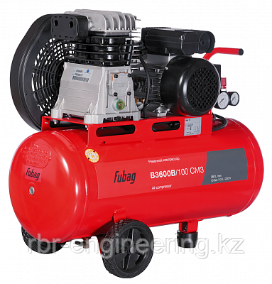 Компрессор воздушный, FUBAG B3600B/100 CM3, 100 л, 360 л/мин, 10 бар, фото 2