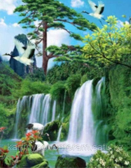"""Картина стразами на подрамнике (40х50 см)""""Водопад"""" MB-589"""