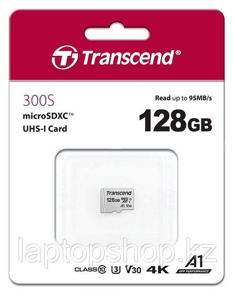 Карта MicroSD 128GB Class 10 U3 Transcend TS128GUSD300S