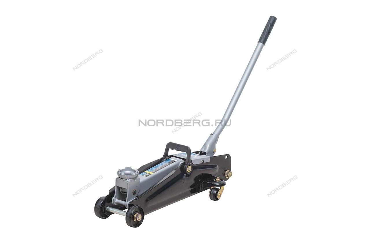 NORDBERG ДОМКРАТ N3202EC подкатной для автолюбителя 2т в кейсе, Н=135-385мм (в кейсе)