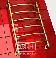 """ДВИН  Полотенцесушитель R 60/40 1""""-1/2"""" Водяной (К3 Золотой хром)"""