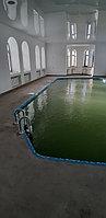 Скиммерный бассейн. Размер = 11,5 х 4,5 х 1,5-2,0 м. Адрес: г. Алматы, ул. Жамакаева. 3
