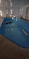 Скиммерный бассейн. Размер = 11,5 х 4,5 х 1,5-2,0 м. Адрес: г. Алматы, ул. Жамакаева. 14