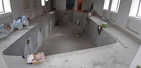 Скиммерный бассейн. Размер = 11,5 х 4,5 х 1,5-2,0 м. Адрес: г. Алматы, ул. Жамакаева. 26