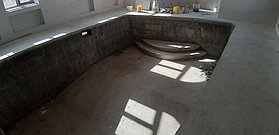 Скиммерный бассейн. Размер = 11,5 х 4,5 х 1,5-2,0 м. Адрес: г. Алматы, ул. Жамакаева. 41