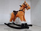 Музыкальная лошадка-качалка для детей, фото 3