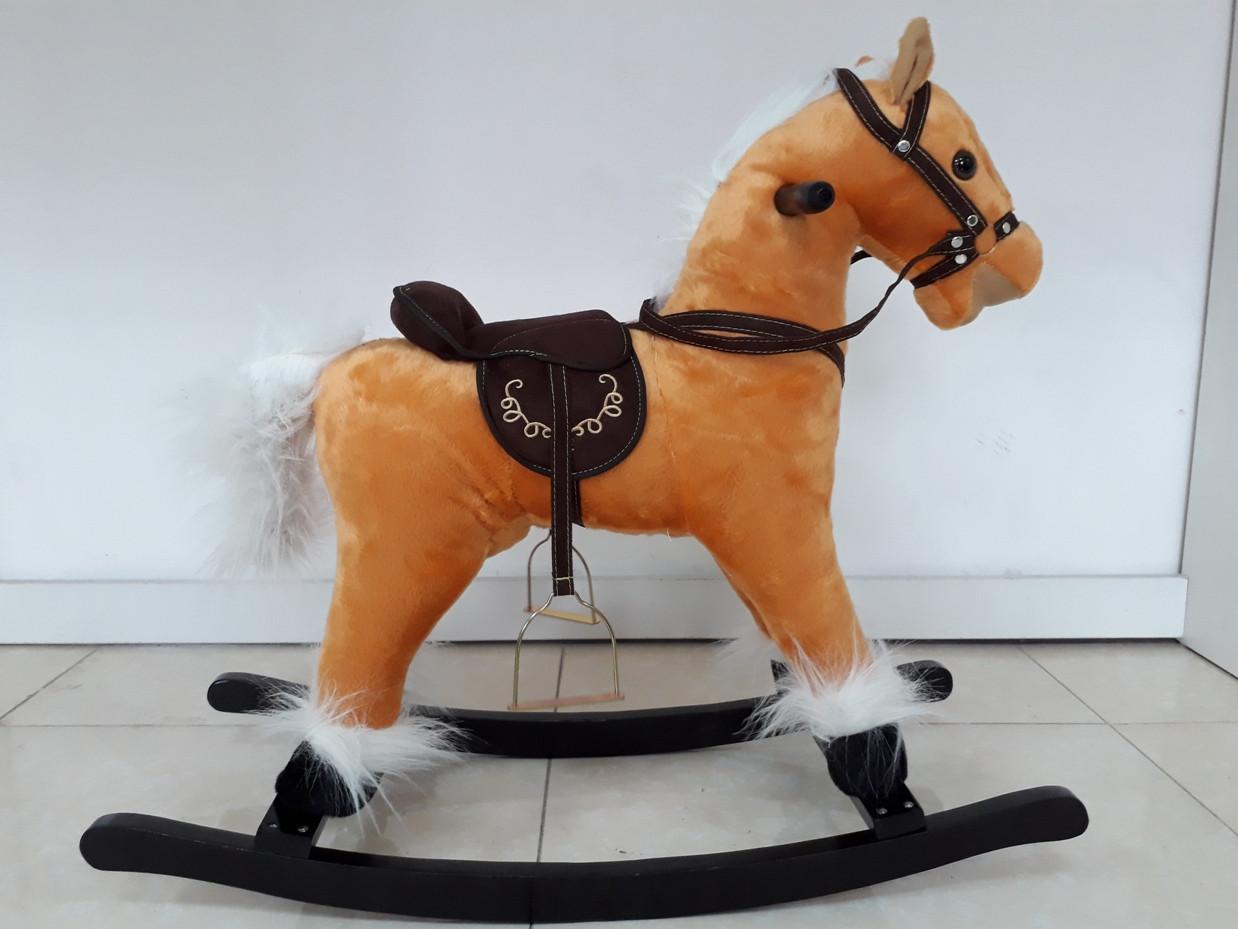 Музыкальная лошадка-качалка для детей. Рассрочка. Kaspi RED.
