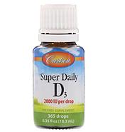 Carlson Labs, Super Daily D3, витамин D3, 2,000 МЕ, 0,37 жидкой унции (10,98 мл), фото 2