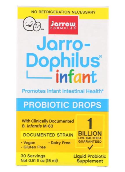 Jarrow Formulas, Jarro-Dophilus, пробиотические капли для младенцев, 15 мл (0,51 жидк. унции)