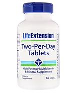 Life Extension, Таблетки Two-Per-Day, 60 таблеток, фото 3