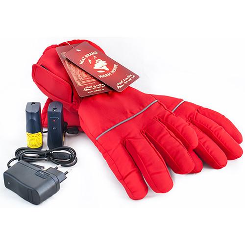 Перчатки с подогревом RedLaika RL-P-02 (Akk) красные, емкость аккумулятора 3400 mAh