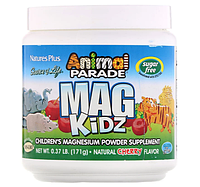 """Nature's Plus, """"Парад зверей"""" Mag Kidz, магний для детей, вкус натуральной вишни, 0,37 ф (171 г)"""