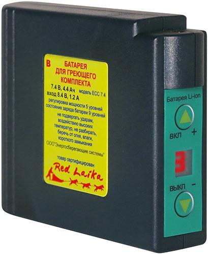 Аккумулятор к муфте имеет две кнопки, которые используются для включения/выключения нагрева и регулировки его интенсивности (нажмите на изображение, чтобы увеличить)
