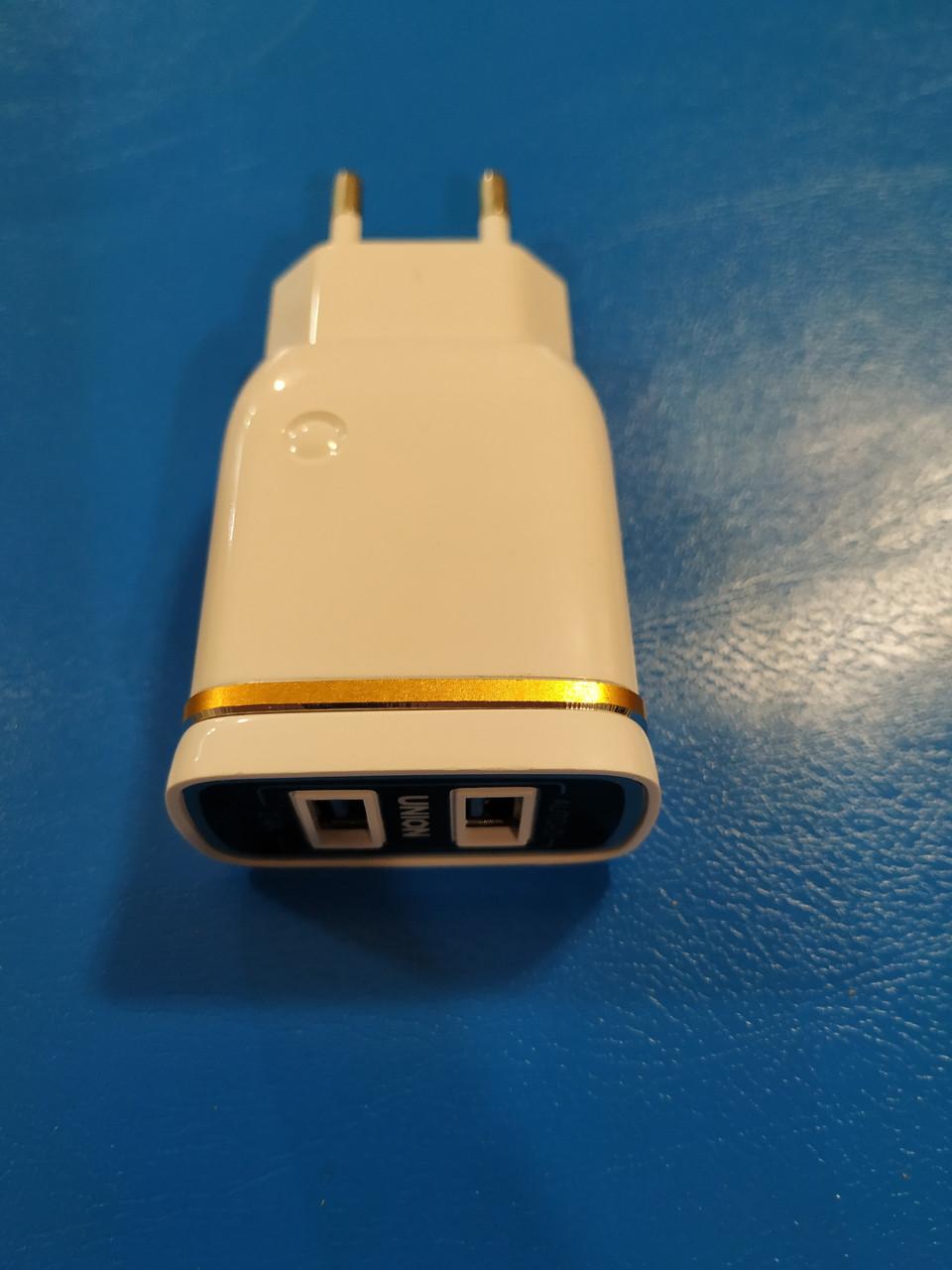 Адаптер Евровилка 220V на USB 5V , 3.1 А