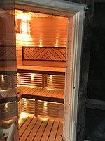 "Финская сауна в квартире. Размер = 2,0 х 1,6 х 2,1 м. Адрес: г. Алматы, ж.к. ""БАЙСАЛ"" 17"