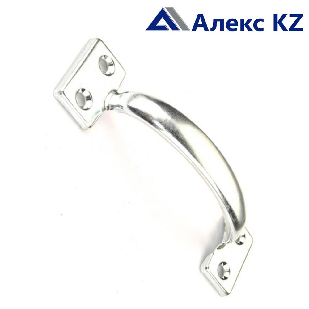 Ручка дверная-скоба РС-90 полимер серебро