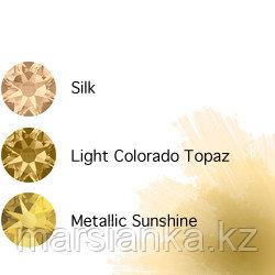 Swarovski Мини-микс омбре Gold, 30шт