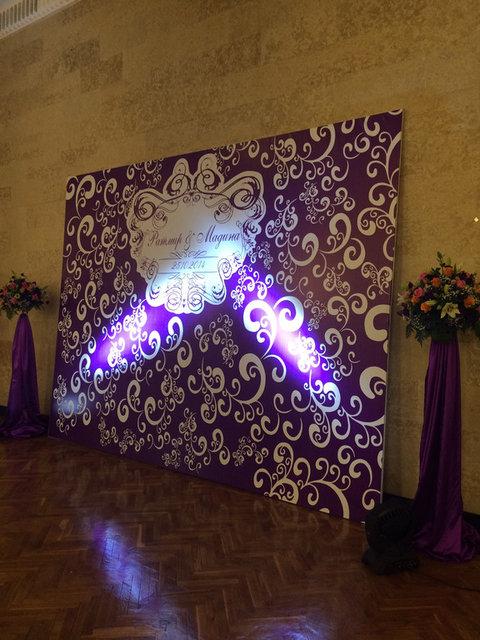 Пресс-стена, баннеры. Пресс-стена из бумажных цветов. 4