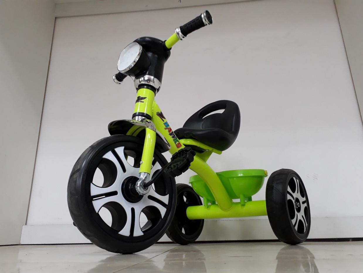 Трехколесный велосипед с фарой и музыкой