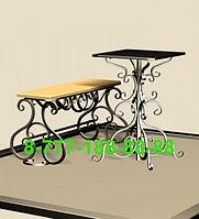Стол и скамейка на кладбище №6