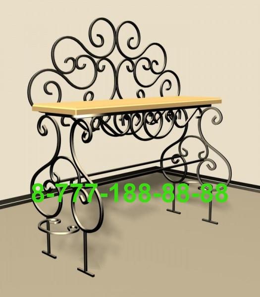 Стол и скамейка на кладбище №8