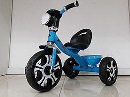 Детский трехколесный велосипед с фарой и музыкой