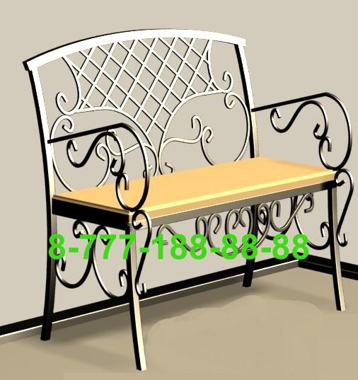 Стол и скамейка на кладбище №9