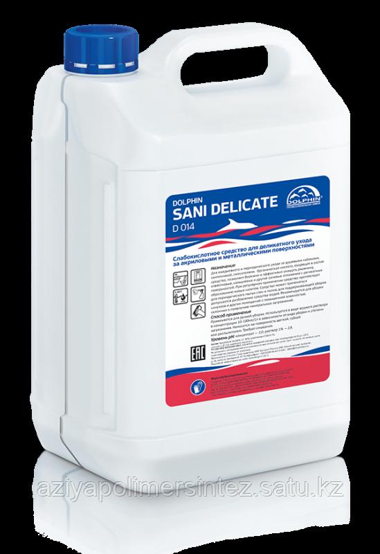 Средство для деликатного ухода за акриловыми и металлическими поверхностями Dolphin Sani-Delicate, 5 л