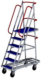 Лестница на колесах ЛС 5 (670х1300х1950) (Арт. 2628-L)