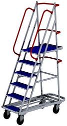 Лестница на колесах ЛС 6 (670х1390х2150) (Арт. 2629-L)