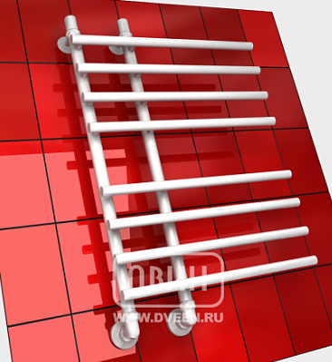 """ДВИН Полотенцесушитель L primo 80/15/55 1""""13/4""""-1/2"""" (К3, Белый)"""