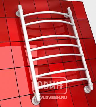 """ДВИН Полотенцесушитель  L 80/50 1""""-1/2"""" Водяной (К3, Белый)"""